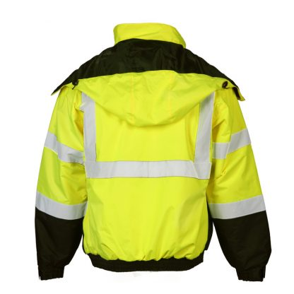 High Visibility Economy Bomber Jacket - ML Kishigo JS121/122, Yellow Back