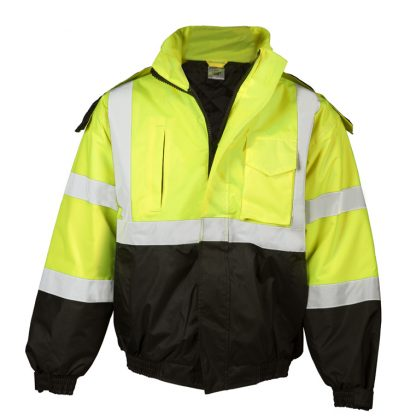 High Visibility Economy Bomber Jacket - ML Kishigo JS121/122, Yellow Front