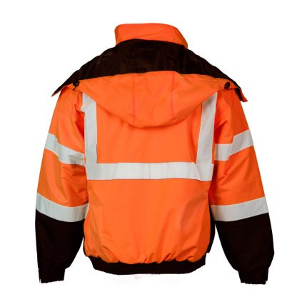 High Visibility Economy Bomber Jacket - ML Kishigo JS121/122, Orange Back