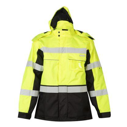 High Visibility Contrast Winter Jacket - ML Kishigo JS140/141, yellow front 2