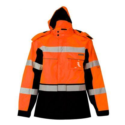 High Visibility Contrast Winter Jacket - ML Kishigo JS140/141, Orange Front with hood