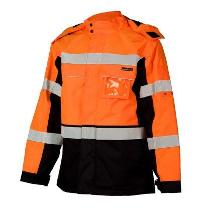 High Visibility Contrast Winter Jacket - ML Kishigo JS140/141, Orange Front