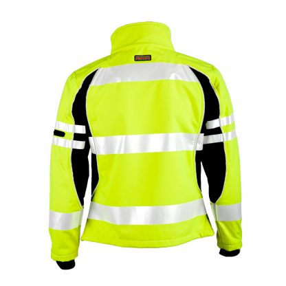 Unisex High Visibility Soft Shell Jacket - ML Kishigo JS144, Yellow Rear