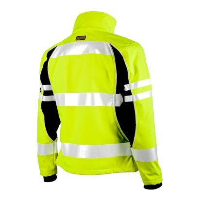 Unisex High Visibility Soft Shell Jacket - ML Kishigo JS144, Yellow Rear Left