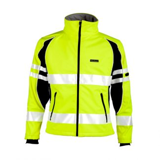Unisex High Visibility Soft Shell Jacket - ML Kishigo JS144, Yellow Front
