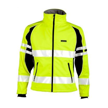 Unisex High Visibility Soft Shell Jacket - ML Kishigo JS144, Yellow Front