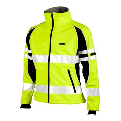 Unisex High Visibility Soft Shell Jacket - ML Kishigo JS144, Yellow Front Left