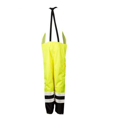 High Visibility Prismatic Rain Bib - ML Kishigo RWB106 - Yellow, Back