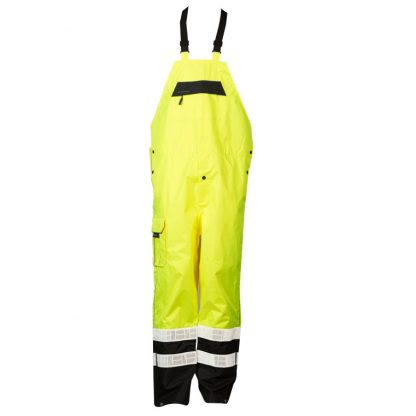 High Visibility Prismatic Rain Bib - ML Kishigo RWB106 - Yellow, Front