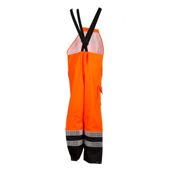 17c162b0cc52d2 High Visibility Prismatic Rain Bib - ML Kishigo RWB107 - Orange, Back