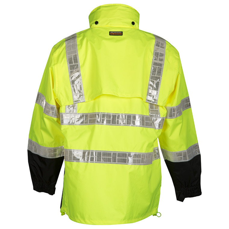 949366412a2ccc High Visibility Storm Stopper Pro Rain Jacket - ML Kishigo RWJ100 - Yellow  Back