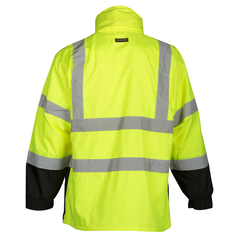 994a11c8f11631 High Visibility Storm Cover Rain Jacket - ML Kishigo RWG102, Yellow, Rear