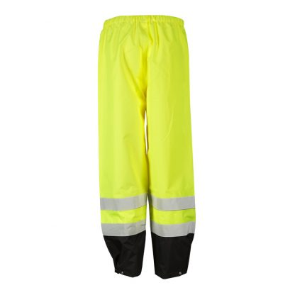 High Visibility Storm Cover Rain Pants - ML Kishigo RWP102 - Back