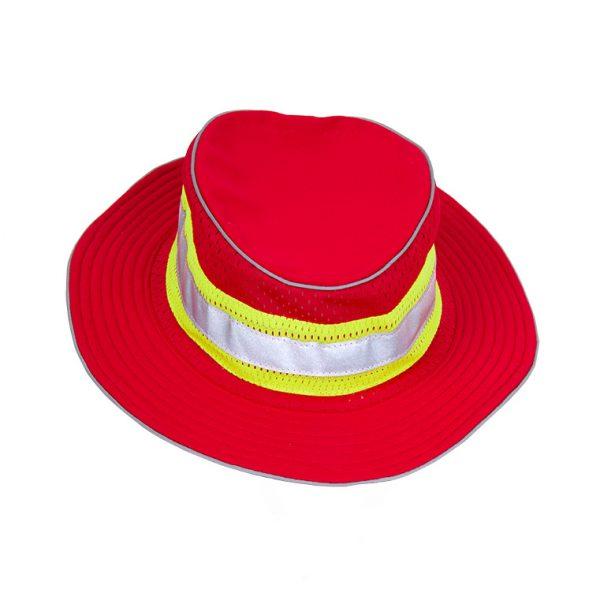 Enhanced Visibility Full Brim Safari Hat, red