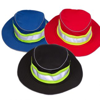 Enhanced Visibility Full Brim Safari Hat, red, blue or black