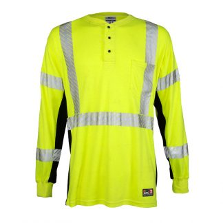 High Visibility Fire Resistant Button Down - ML Kishigo F594/594T, Front