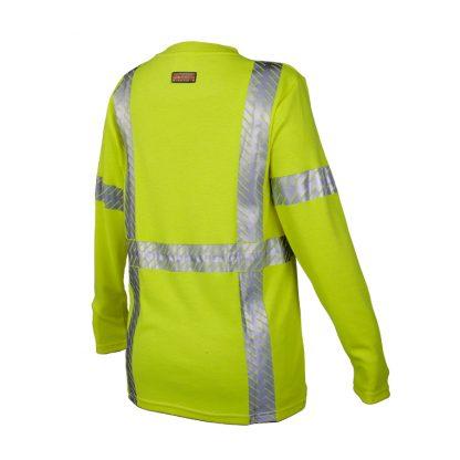 Women's High Visibility FR Long Sleeve T-Shirt - ML Kishigo F615, rear side