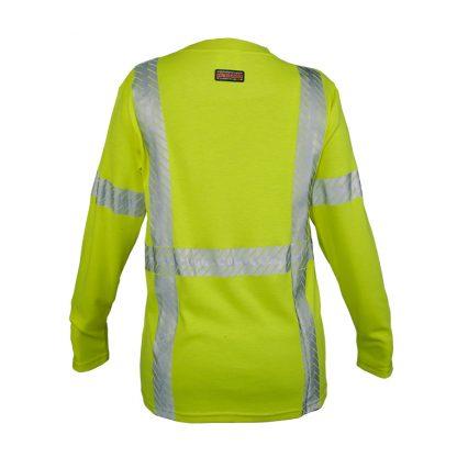 Women's High Visibility FR Long Sleeve T-Shirt - ML Kishigo F615, rear