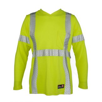Women's High Visibility FR Long Sleeve T-Shirt - ML Kishigo F615, Front
