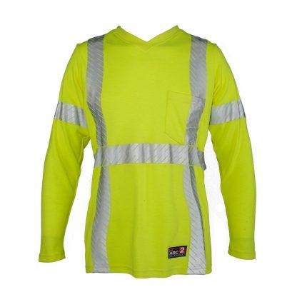 Women's High Visibility FR Long Sleeve T-Shirt - ML Kishigo F615, Front