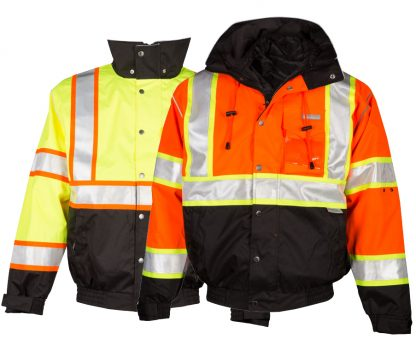 High Visibility 2-in-1 Bomber Jacket - ML Kishigo JS119/120, Both