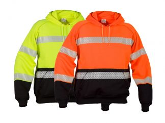 High Visibility Contrast Hoodie - ML Kishigo JS142/143, available in yellow or black