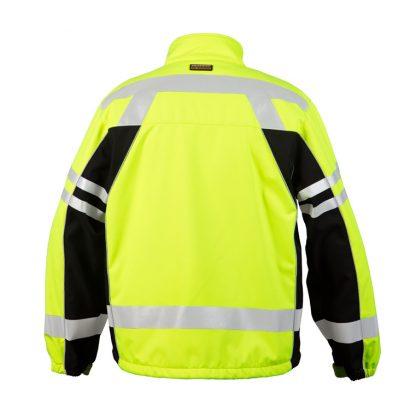 High Visibility Soft Shell Jacket - ML Kishigo JS137/138, Yellow, Back