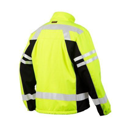 High Visibility Soft Shell Jacket - ML Kishigo JS137/138, Yellow, Back 2