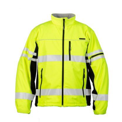 High Visibility Soft Shell Jacket - ML Kishigo JS137/138, Yellow, Front 2