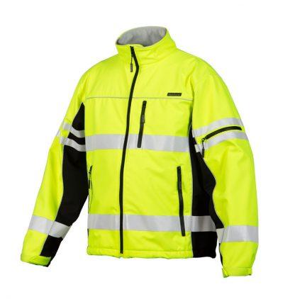 High Visibility Soft Shell Jacket - ML Kishigo JS137/138, Yellow, Front