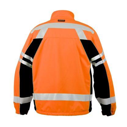 High Visibility Soft Shell Jacket - ML Kishigo JS137/138, Orange, Back 2