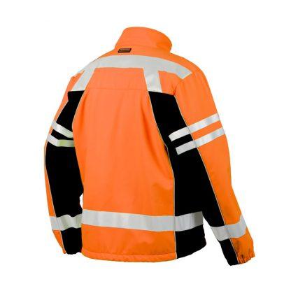High Visibility Soft Shell Jacket - ML Kishigo JS137/138, Orange, Back