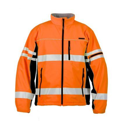 High Visibility Soft Shell Jacket - ML Kishigo JS137/138, Orange, Front 2