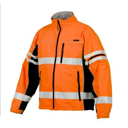 High Visibility Soft Shell Jacket - ML Kishigo JS137/138, Orange, Front