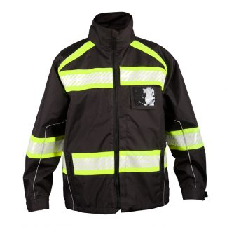Black High Visibility Jacket, ANSI 107 Type O - ML Kishigo B300, Front