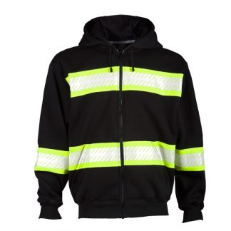 Black High Visibility Hoodie - ML Kishigo B310, Black Front