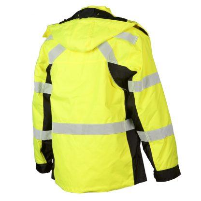 High Visibility Contrast Winter Jacket - ML Kishigo JS140/141, yellow rear left