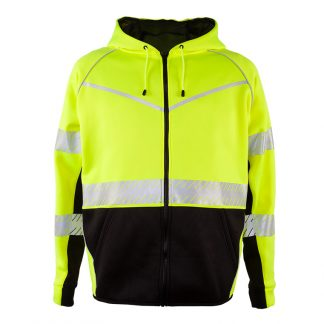 High Visibility Hoodie w/ Zipper - ML Kishigo JS150, Front