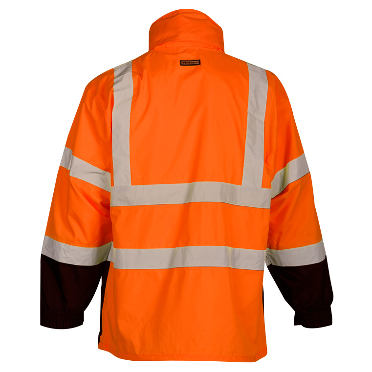 72dc6eda0663ef High Visibility Storm Cover Rain Jacket - ML Kishigo RWG103, Orange, Rear