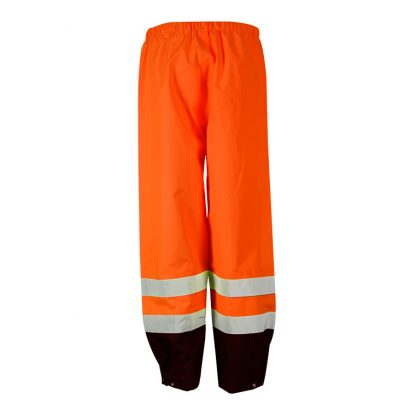 High Visibility Storm Cover Rain Pants - ML Kishigo RWP103 - Back