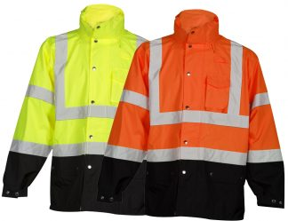 High Visibility Storm Cover Rain Jacket - ML Kishigo RWG102/103
