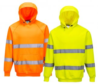 High Visibility Hooded Sweatshirt - Portwest B304, Mix