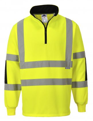 High Visibility Xenon Rugby Shirt - Portwest B308, Yellow