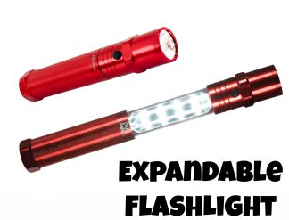 Collapsible Inspection Flashlight - Portwest PA66, Red
