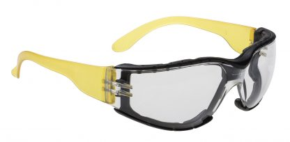 Wrap Around+ Safety Glasses - Portwest PS32, With Foam Lining