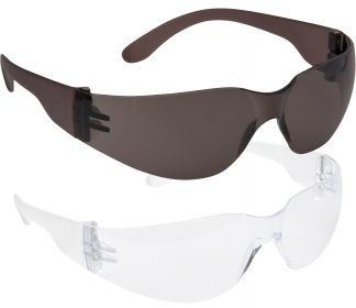 Wrap Around Safety Glasses - Portwest PW32, Available in smoke or clear