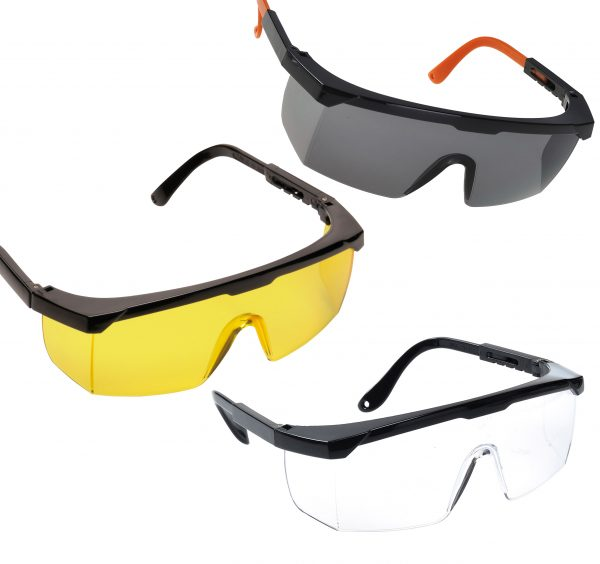 Classic Safety Glasses - Portwest PW34, Available in Amber, Smoke, or Clear