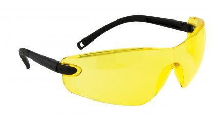 Frameless Safety Glasses - Portwest PW34, Amber