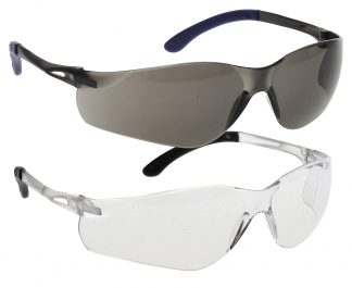 Pan View Safety Glasses - Portwest PW38, Available in smoke and clear