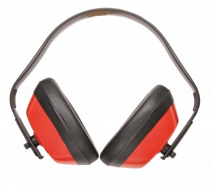 Classic Ear Protector Ear Muffs - Portwest PW40, Red